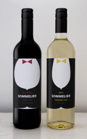 Bottle Label - Sommelier Fine Wines