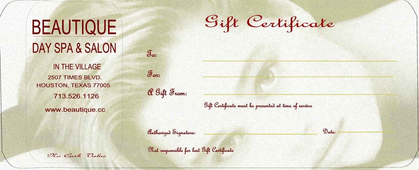 Beauty parlour certificate design joy studio design for Free beauty gift voucher template