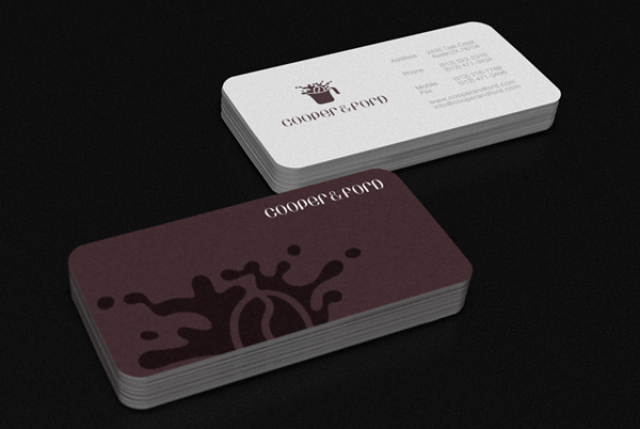 Rounded Corner Business Card - Robinsson Cravents