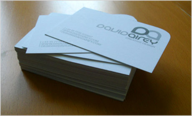 Rounded One Corner Business Card Design - David Airey