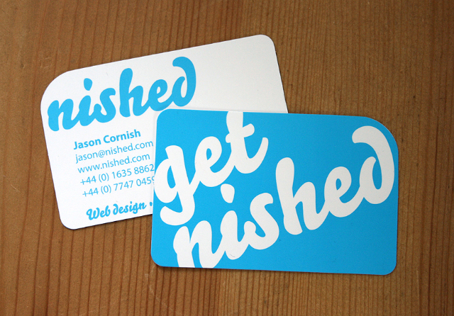 Rounded One Corner Business Card - Jason
