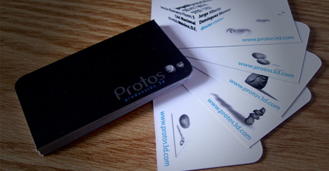 Leaf Die-Cut Business Card - Protos