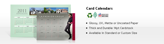 cheap calendar printing - card calendars