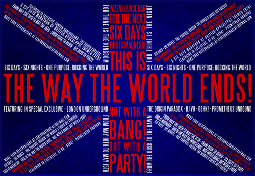Custom Poster Printing - End of the World Party