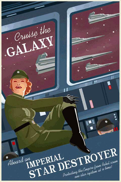 Custom Poster Printing - Star Wars Travel Poster