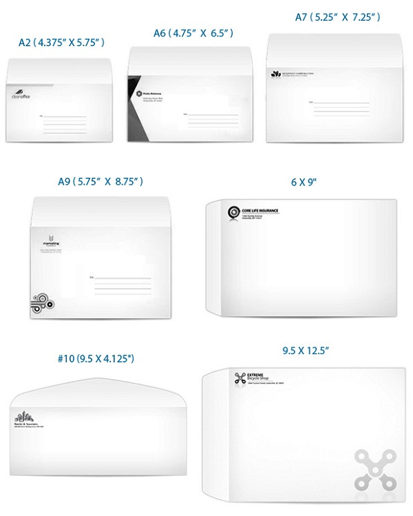 business envelope sizes