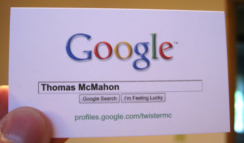 The worlds top 10 most unique business cards jackalfnath thomas mcmahon business card 10 google me colourmoves