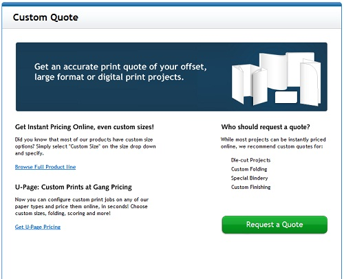 Custom Quote - UPrinting