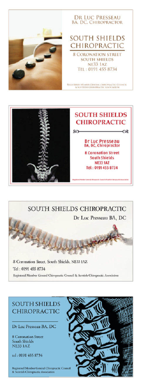 chiropractic professional business cards