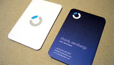 Rounded Corner Business Card 5