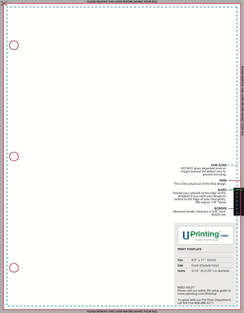Sales Sheet with 0.3125 Hole Template