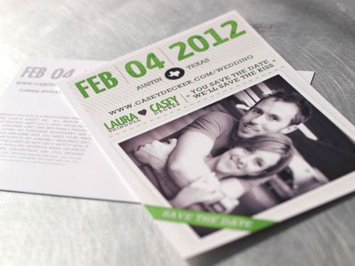 Save the Date Card Design by Casey Decker