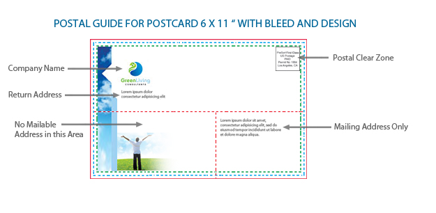 Standard Postcard Size - Postal Guide Design Sample