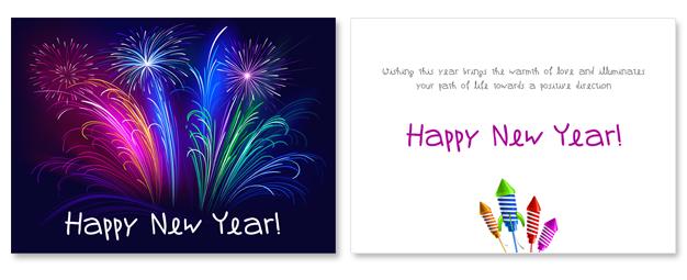 New Year Postcard Sample