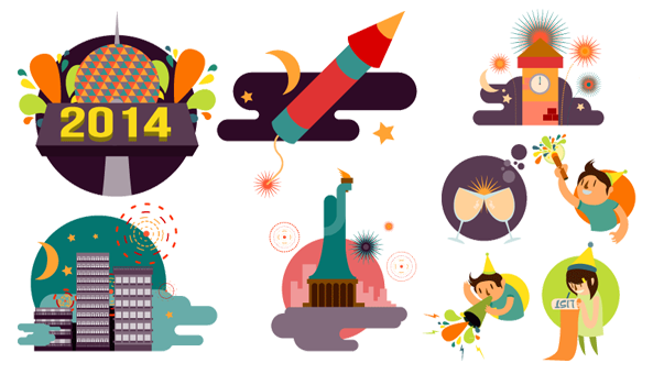 New Year Vector Images