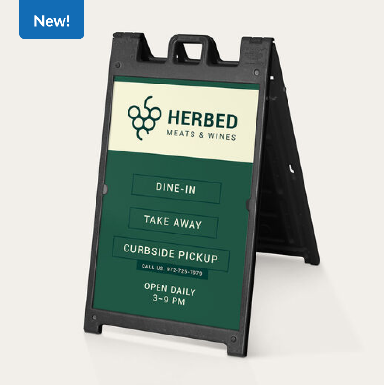 New!   Deluxe Signicade® A-Frame Signs