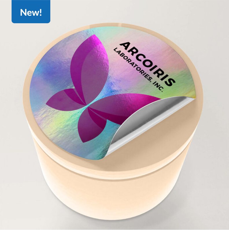 New!   Holographic Stickers