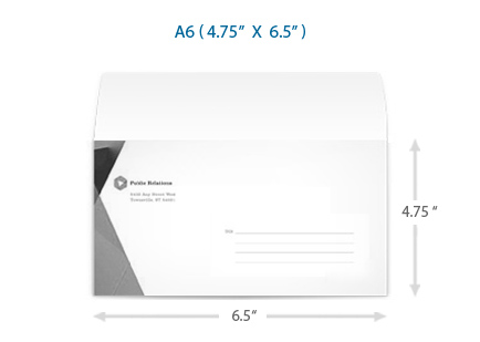 Sample A Envelope Template Step Arrange Your Envelope Print