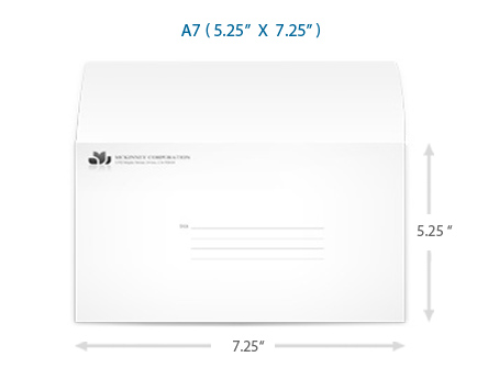 A7 Envelope Greeting Card Envelopes – Sample A7 Envelope Template