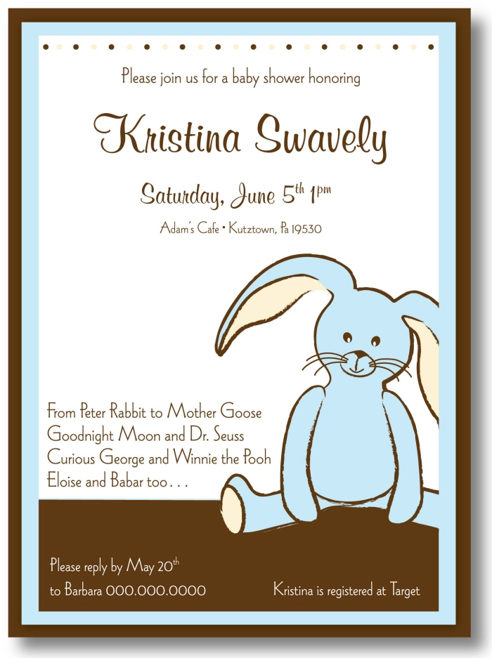 Baby Shower Invitations Idea with perfect invitations layout