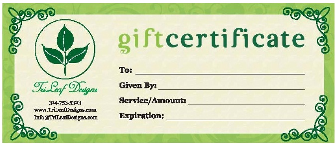 Business Gift Certificates Uprinting