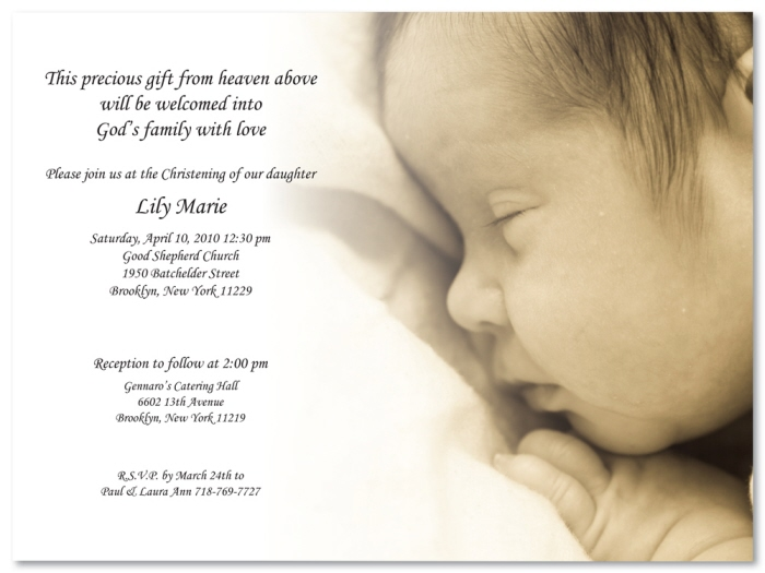 Baptismal Invitation Message as great invitations layout