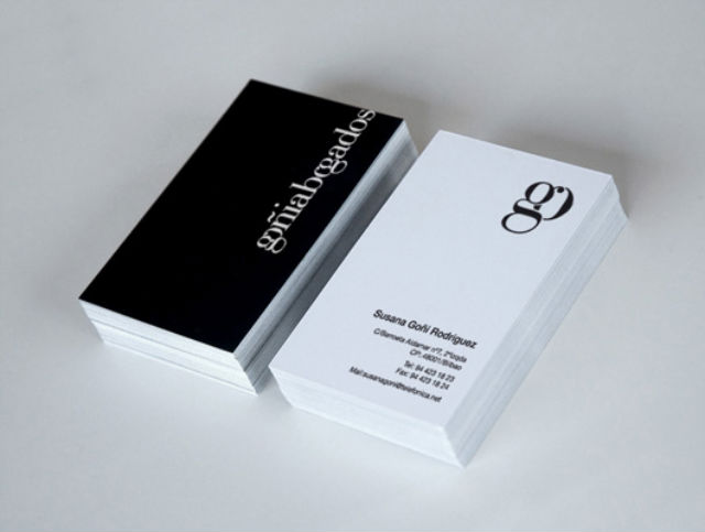 Professional Lawyer Business Cards Marina Goñi