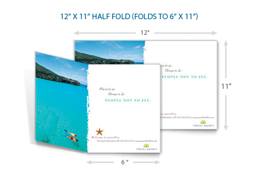 Standard Postcard Size - Folded Postcards