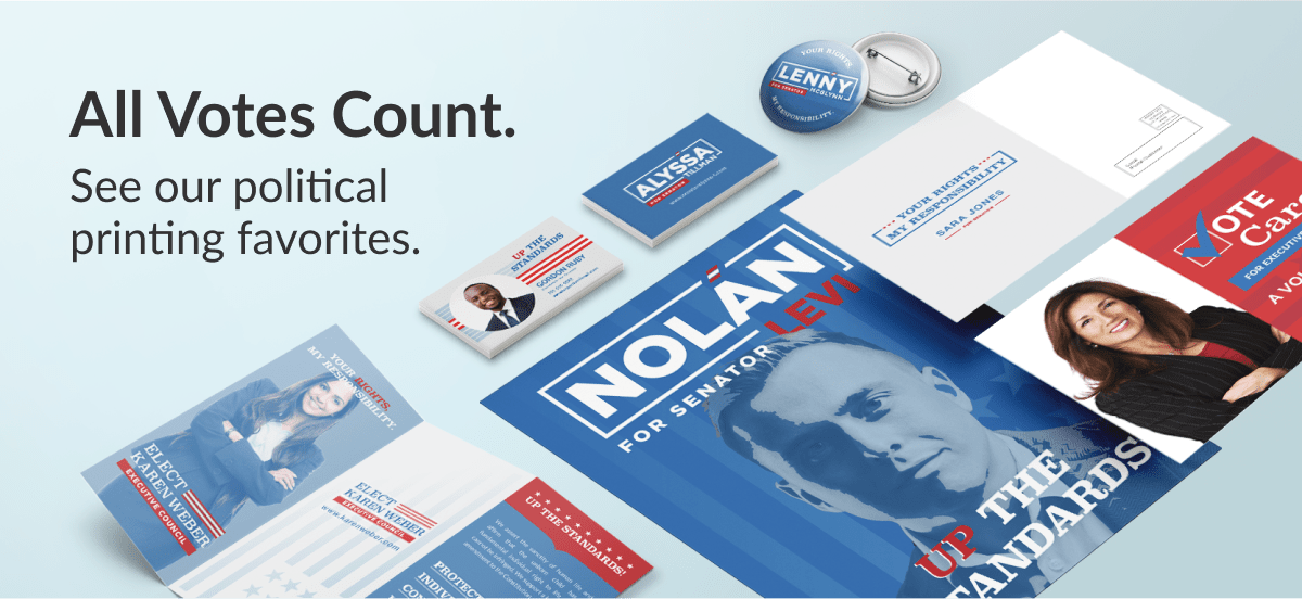 All Votes Count | See our political printing favorites